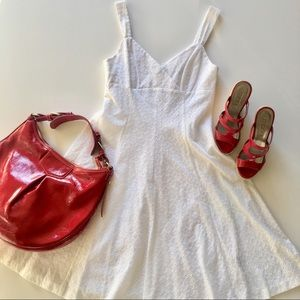 American Living White Sleeveless Dress